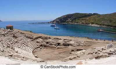 """Knidos amphitheater and majestic sea, datca, turkey"""
