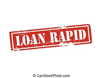 Loan rapid - Rubber stamp with text loan rapid inside,...