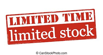 Limited time and stock