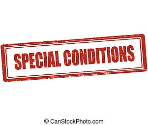 Special conditions - Rubber stamp with text special...
