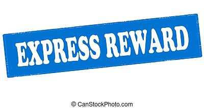 Express reward - Rubber stamp with text express reward...