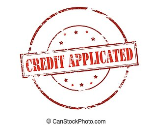 Credit applicated - Rubber stamp with text credit applicated...