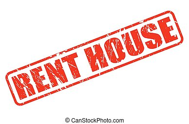 RENT HOUSE red stamp text on white