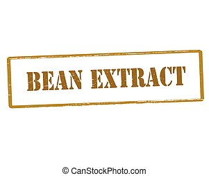 Bean extract - Rubber stamp with text bean extract inside,...