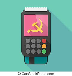 Long shadow dataphone with the communist symbol -...
