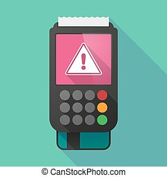 Long shadow dataphone with a warning signal - Illustration...