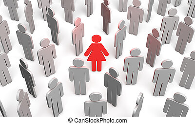 Difficult choice (symbolic figures of people) - Standing Out...