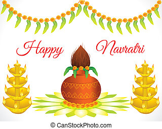 abstract artistic detailed navratri background
