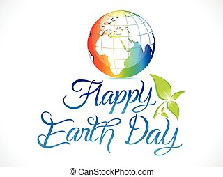 abstract artistic colorful earth day background