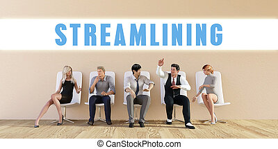 Business Streamlining Being Discussed in a Group Meeting