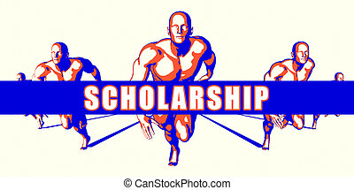 Scholarship as a Competition Concept Illustration Art