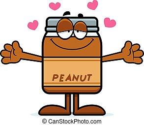 Cartoon Peanut Butter Hug