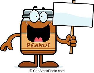 Cartoon Peanut Butter Sign