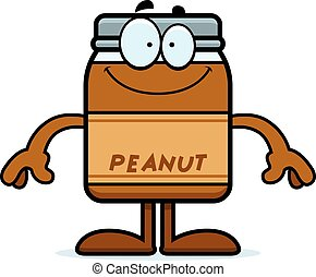 Happy Cartoon Peanut Butter