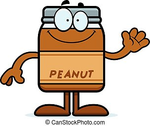 Cartoon Peanut Butter Waving