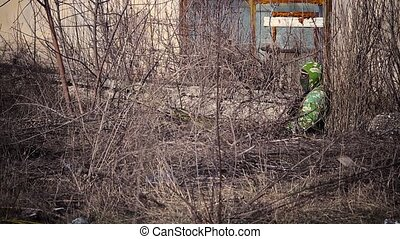sniper in position - sniper lying in wait at the position