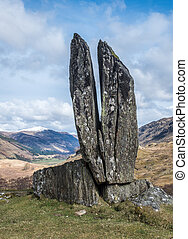 Standing Stones in Glen Lyon - Praying Hands of Mary or...