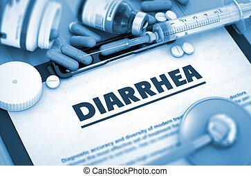 Diarrhea., médico, Concept.,