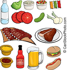Barbecue Food Icons