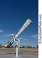 white telescope at outdoor - White big telescope at outdoor...