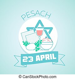 23 April Pesach - Calendar for each day on April 23 Greeting...