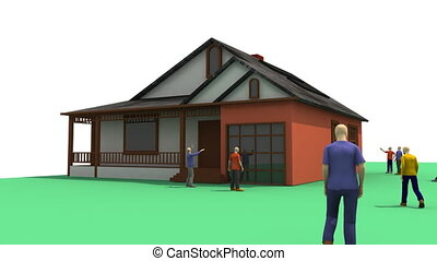 3D animation showing the concept of