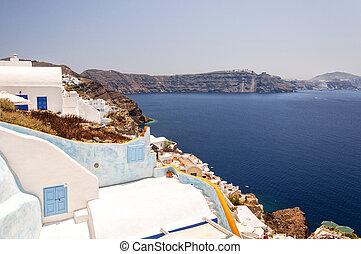 Santorini Caldera from Oia - An image of Santorinis caldera...