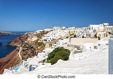 Santorini Oia Cityscape - A cityscape image from Santorini...