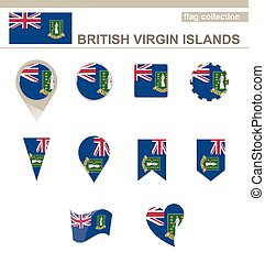 British Virgin Islands Flag Collection, 12 versions