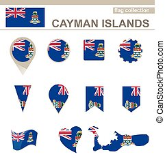 Cayman Islands Flag Collection, 12 versions