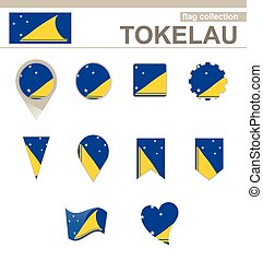 Tokelau Flag Collection, 12 versions