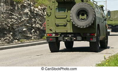 Russian Military Vehicles in Motion