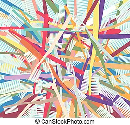 Colorful Toothbrushes Background