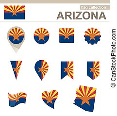 Arizona Flag Collection, 12 versions