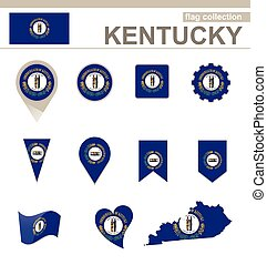 Kentucky Flag Collection, USA State, 12 versions