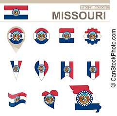 Missouri Flag Collection, USA State, 12 versions