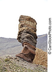 The stone formation Gods Finger in Teide National Park...