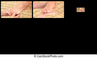 Animation presenting de-emphasizing foot massages in HD