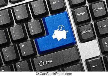 藍色,  moneybox, 符號,  -, 鑰匙, 鍵盤, 概念性