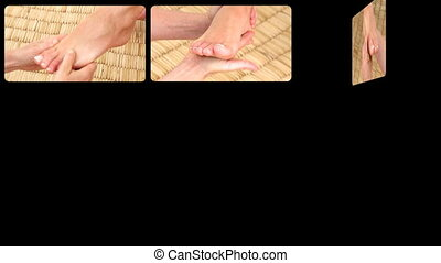 Animation presenting relaxing foot massages in HD