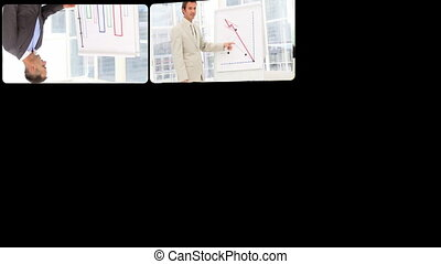 Business people doing presentations - Successful business...