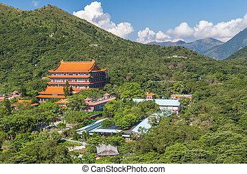 Po Lin Monastery on Lantau Island, Hong Kong - Po Lin...