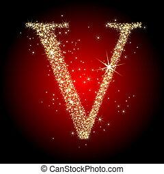 letter star V - letter star V, this illustration may be...