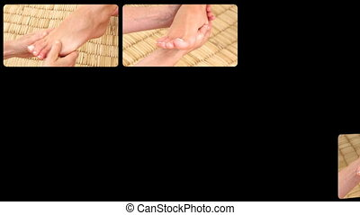 Healthy foot massages - Animation presenting healthy foot...