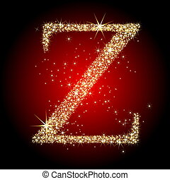 letter star Z, this illustration may be useful as designer...
