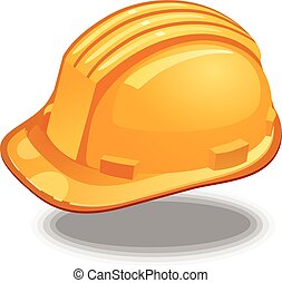 Hard Hat  yellow icon vector eps 10