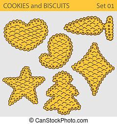 Set of cookies biscuits