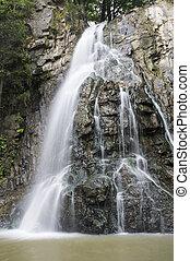 Mountains stone waterfall - Beautiful mountains stone water...