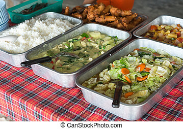 Fresh take away asian food - Fried and healthy tasty asian...