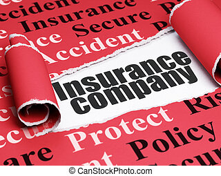 Insurance concept: black text Insurance Company under the...